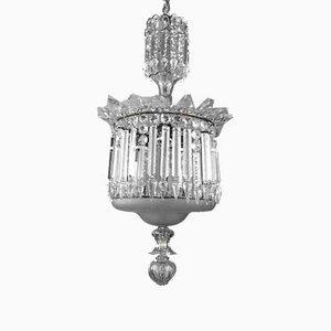 Lampadario in cristallo, metà XIX secolo