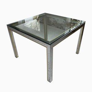 Brass Chrome Coffee Table by Renato Zevi