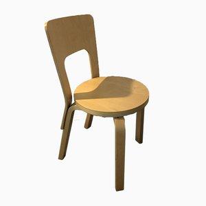 Chair 66 by Alvar Aalto for Artek, Set of 6