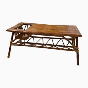Tavolino da caffè vintage in vimini di Adrien Audoux & Frida Minet