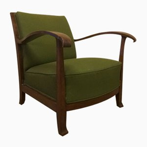Danish Art Deco Mahogany Armchair, 1930s