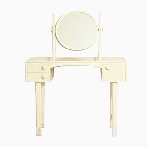 Swedish White Desk with Mirror, 1960s