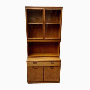 Vintage Wall Unit or Cabinet with Open Bookcase