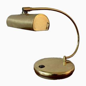 Lampada da tavolo in ottone di Holtkötter, Germania, anni '70