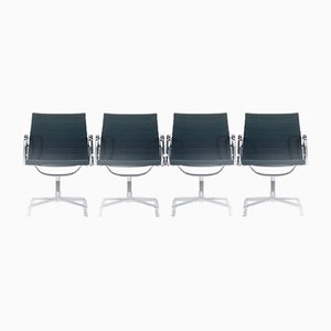 EA 107 Chairs by Charles & Ray Eames for Vitra, 1980s, Set of 4
