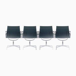 EA 107 Stühle von Charles & Ray Eames für Vitra, 1980er, 4er Set