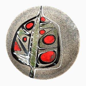 Piatto da parete Mid-Century in ceramica, Francia, anni '60