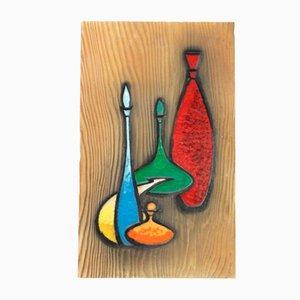Schwedische Mid-Century Wandtafel aus Keramik, 1960er