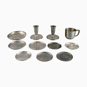 Pewter Tableware from Just Andersen, Set of 11