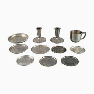 Pewter Tableware from Just Andersen, Set of 11