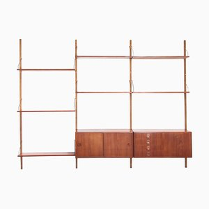 Teak Wall Unit by Rud Thygesen and Johnny Sorensen for Hg Møbler