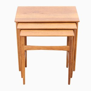 Model at-40 Nesting Tables by Hans Wegner, Set of 3