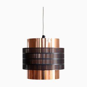 Danish Jo Hammerborg Style Black Brass Pendant Lamp