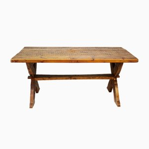 Vintage Esstisch aus Pinienholz, 1980er