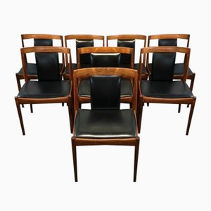 Rosewood Dining Chairs by Kai Kristiansen, 1960s, Set of 8