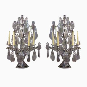 Large Nineteenth Candleholders, Set of 2