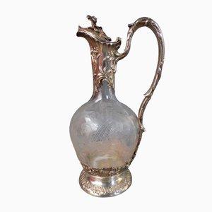 Silberner und Kristallglas Krug