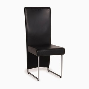 Black Leather Chair by Rolf Benz