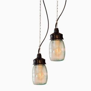Lampada industriale in vetro