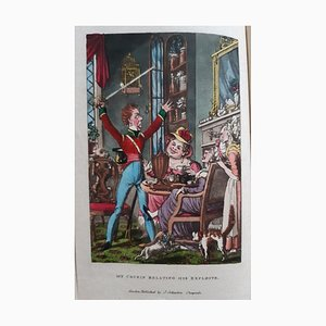 George Cruikshank - My Cousin in the Army - Rare Book Engraved by G. Cruikshank - 1822