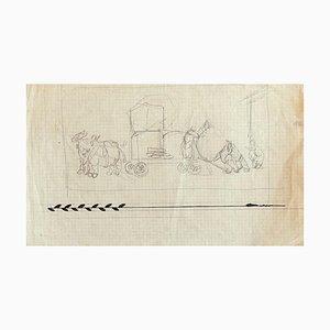 Gabriele Galantara - Figuren - Original Bleistift und Tusche auf Papier - Frühes 20. Jahrhundert