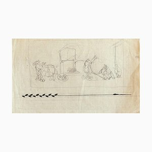 Gabriele Galantara - Figures - Original Pencil and Ink on Paper - Early 20th Century