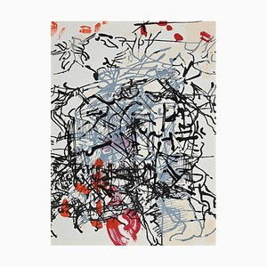 Jean-Paul Riopelle - Black and Red Composition - Lithograph - 1968