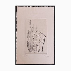 Marcel Kurtz - The Horse - Original Etching - Late 20th Century