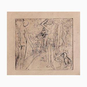 Figuren - Original Radierung - Mitte des 20. Jahrhunderts