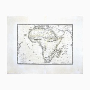 Map of Africa by C. Brue, 1820