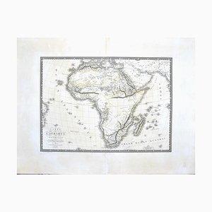 Mappa dell'Africa di C. Brue, 1820