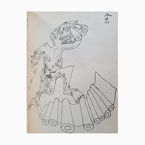 Jean Cocteau - Opium - Seltenes Vintage Buch Illustriert von Jean Cocteau - 1931
