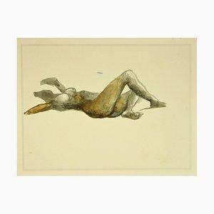 Nude - Vintage Offset Print After Renato Guttuso - 1980s