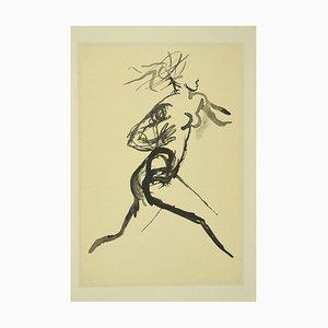 Running Woman - Vintage Offsetdruck nach Renato Guttuso - 1980er