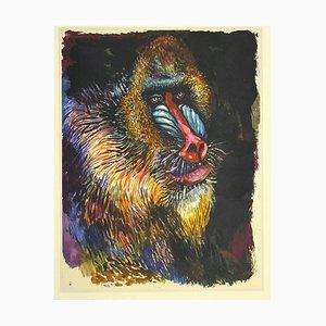 Monkey - Vintage Offset Print After Renato Guttuso - 1980s
