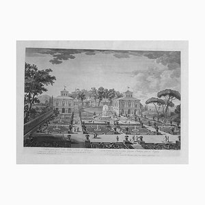 Villa Lante of Bagnaia - Original Offset Print After Francesco Pannini - 1980s