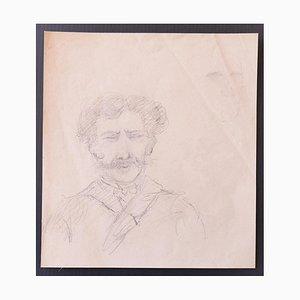 Portrait - Original Bleistift auf Papier - Spätes 19. Jahrhundert