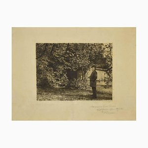 Karl Stauffer - Garden - Original Photo-Engraving by Karl Stauffer - 1889