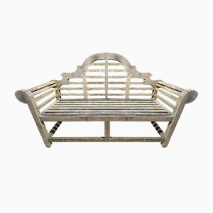 Antique Teak Garden Benches by Lutyens