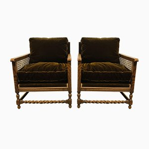 Antique Webbing Living Room Set, Set of 4