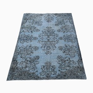 Vintage Turkish Turquoise Wool Carpet