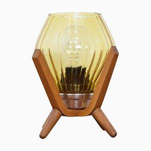Mid-Century Tischlampe aus Holz von Drevo Humpolec, 1970er