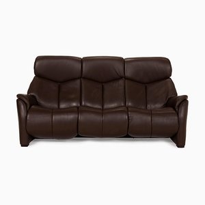 Brown Leather Nevada Sofa by Hukla
