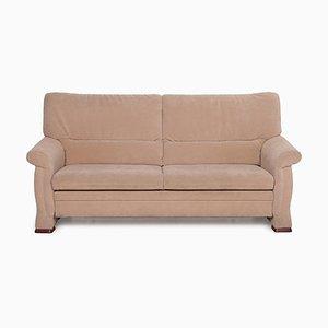 Beige Microfiber Sofa by Himolla