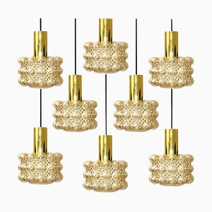 1 sur 8 Beautiful Pendant Bubble Glass Lamps by Helena Tynell, 1960 From Limburg