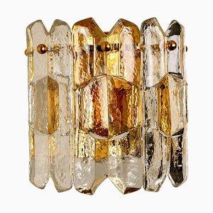 Lampada da parete Palazzo in ottone dorato e vetro di JT Kalmar per Isa