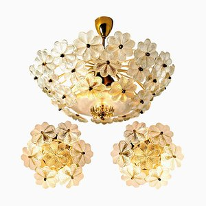 Wall Sconces & Ceiling Lamp by Ernst Palme for Lumi, 1970s, Set of 3