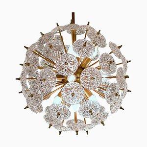 Emil Stejnar Style Val Saint Lambert Crystal Sputnik Chandelier