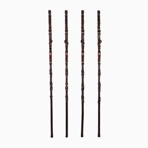 Group of Pilasters in Carved Wood, Set of 4