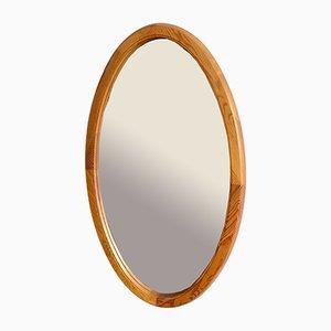 Specchio da parete con cornice in legno, anni '60
